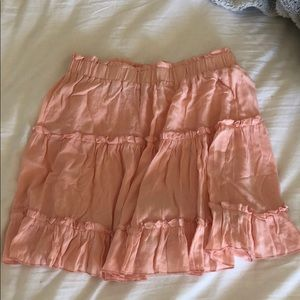 Garage pale pink ruffled mini skirt